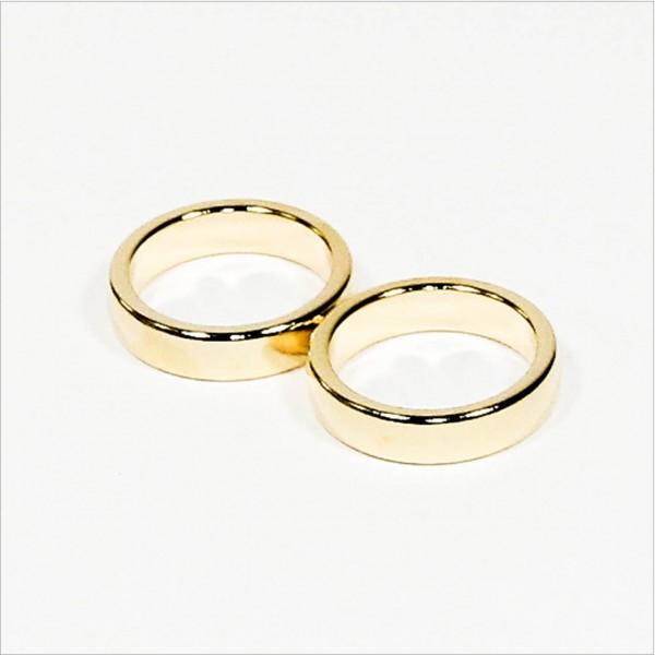 D26-d21x6mm - N45 NdFeB PK-Ring Magnet diametral - Gold