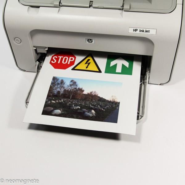 297x210x0,3mm - Magnetfolie bedruckbar A4