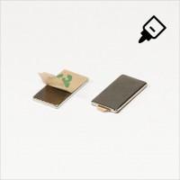 20x12x1,5mm - N35 NdFeB Quader Magnet mit 3M Tab - NiCuNi - S�d