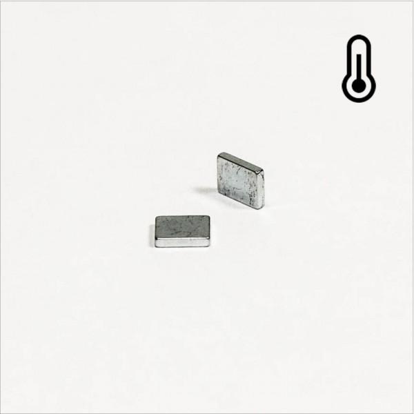 5x4x1mm - 45SH NdFeB Quader Magnet - Zink