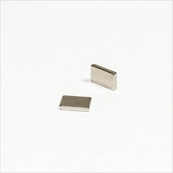 6x4x1mm - N48 NdFeB Quader Magnet - NiCuNi