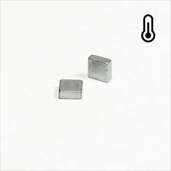 5x5x2mm - 45SH NdFeB Quader Magnet - Zink