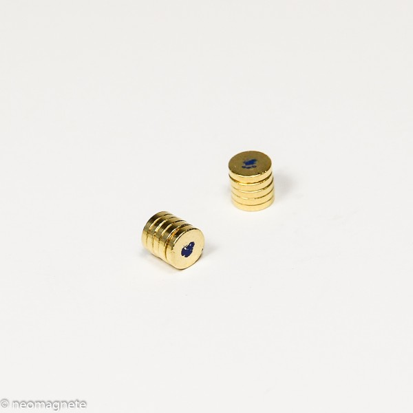 D5x1mm - N42 NdFeB Scheiben Magnet - NiCuNi-Au