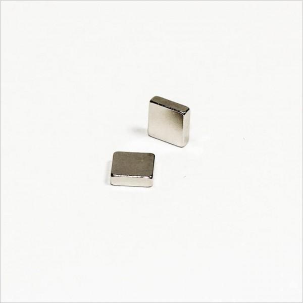 5x5x1,5mm - N45 NdFeB Quader Magnet - NiCuNi