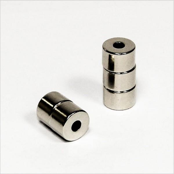 D12-d4,2x8mm - N45 NdFeB Ring Magnet - NiCuNi