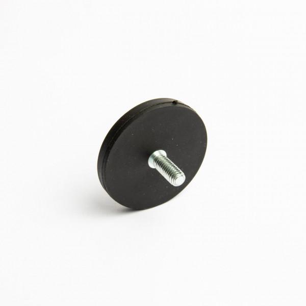 D43mm - gummiertes Magnetsystem mit Gewinde - schwarz