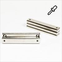 80x13,5x5mm - N35 Flachgreifermagnet Quader - NiCuNi
