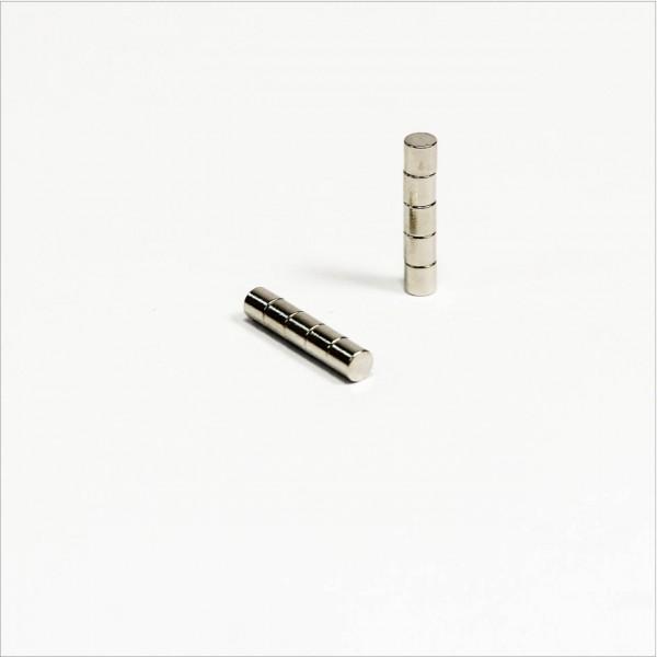 D2x2mm - N48 NdFeB Scheiben Magnet - NiCuNi