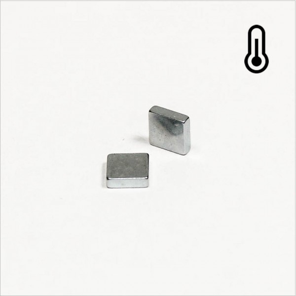 5x5x1,5mm - 45SH NdFeB Quader Magnet - Zink