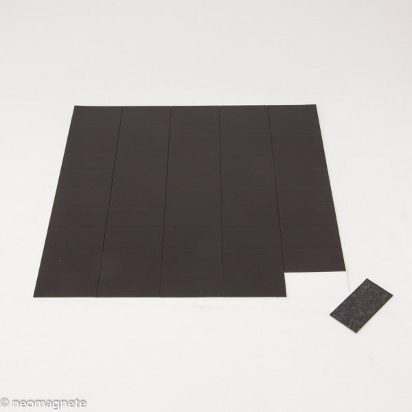 Magnetplättchen vom Bogen 20x40mm selbstklebend