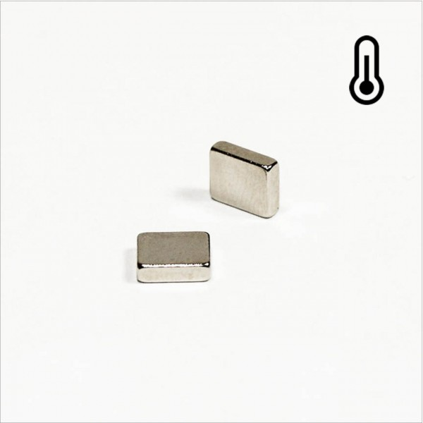7x6x2mm - N42SH NdFeB Quader Magnet - NiCuNi