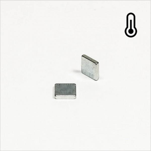 5x5x1mm - 45SH NdFeB Quader Magnet - Zink