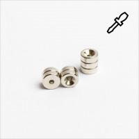 D8-d2,2x3mm - N45 NdFeB Ring Magnet mit 90° Senkung - NiCuNi