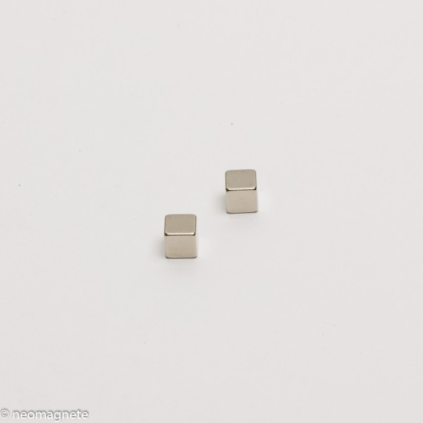 5x5x5mm - N42 NdFeB Quader Magnet - NiCuNi