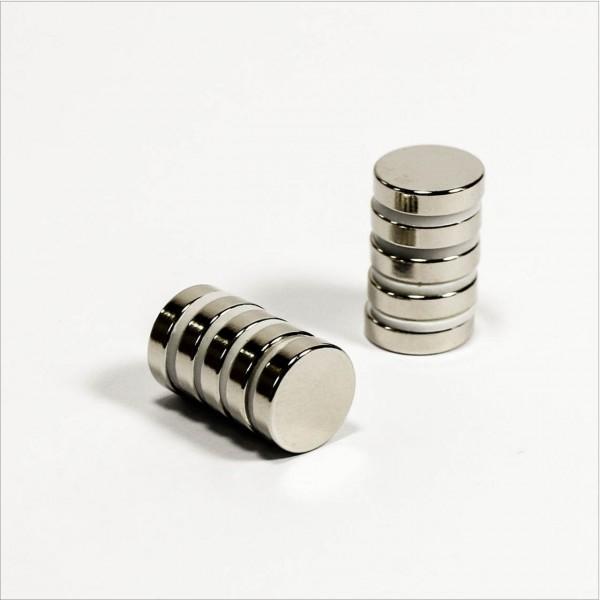 D12x3mm - N52 NdFeB Scheiben Magnet - NiCuNi