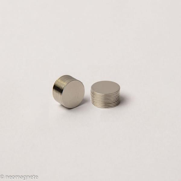 D10x0,5mm - N42 NdFeB Scheiben Magnet - NiCuNi