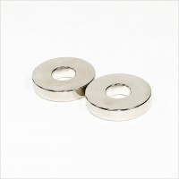 D40-d15x8mm - N42 NdFeB Ring Magnet diametral - NiCuNi