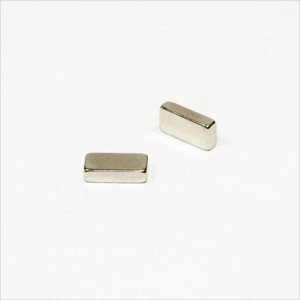 8x4x2mm - N45 NdFeB Quader Magnet - NiCuNi