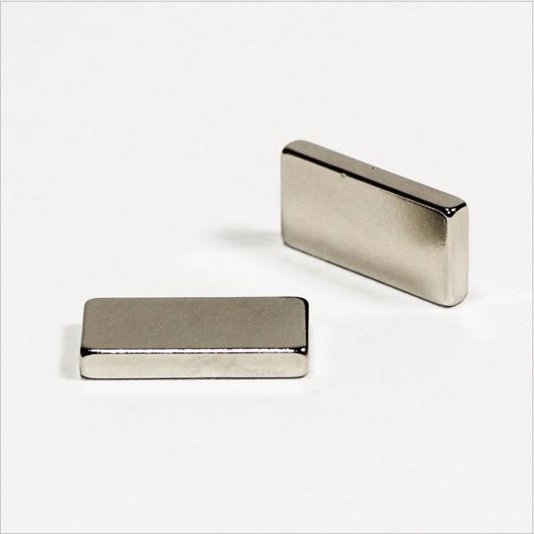 20x10x3mm - N52 NdFeB Quader Magnet - NiCuNi