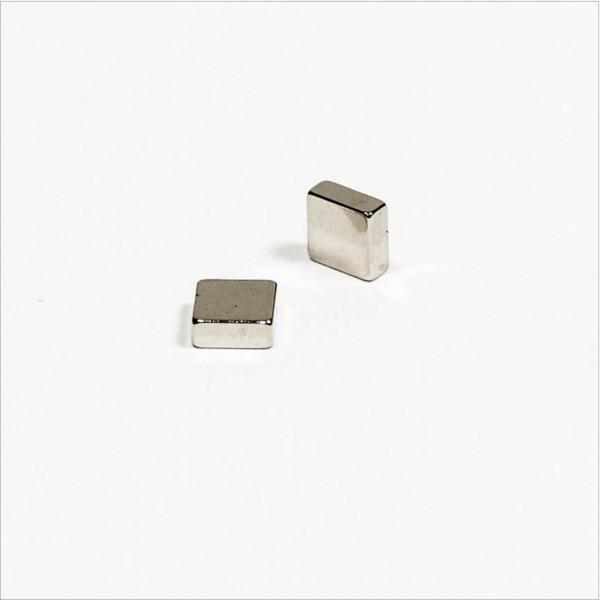 5x5x2mm - N45 NdFeB Quader Magnet - NiCuNi