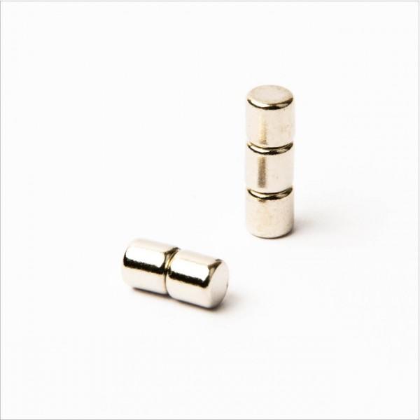 D4x4mm - N45 NdFeB Scheiben Magnet - NiCuNi