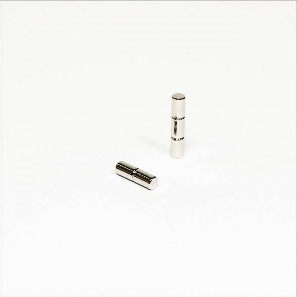 D3x5mm - N45 NdFeB Stab Magnet - NiCuNi