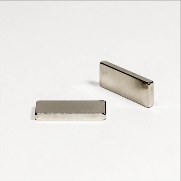 35x14x4mm - N42 NdFeB Quader Magnet - NiCuNi