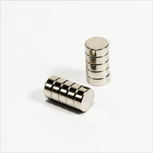 D8x3mm - N48 NdFeB Scheiben Magnet - NiCuNi