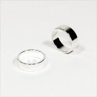 N45 NdFeB PK-Ring Magnet - Silber