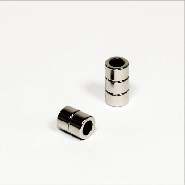 D8-d5x5mm - N48 NdFeB Ring Magnet - NiCuNi