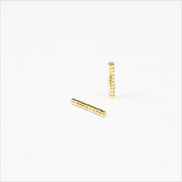D1,5x1mm - N52 NdFeB Scheiben Magnet - Gold
