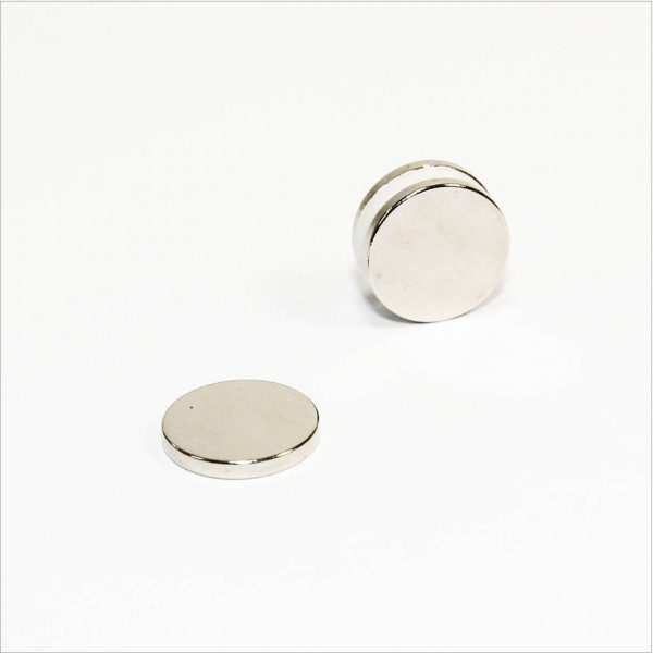 D15x2mm - N45 NdFeB Scheiben Magnet - NiCuNi