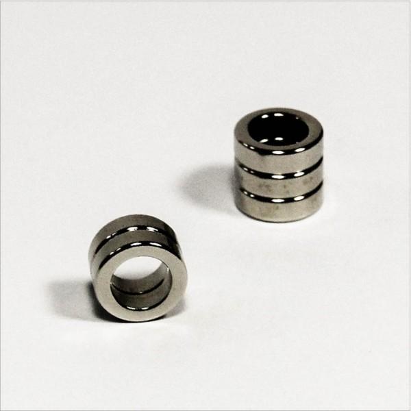 D13-d8,5x4mm - N45 NdFeB Ring Magnet - NiCuNi