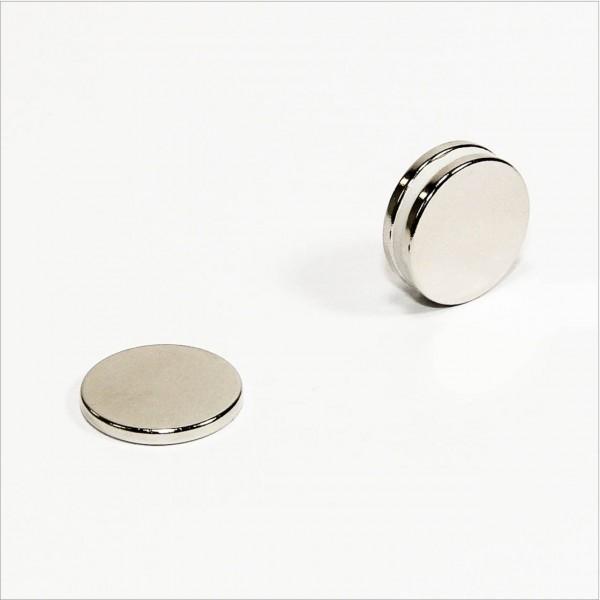 D18x2mm - N42 NdFeB Scheiben Magnet - NiCuNi
