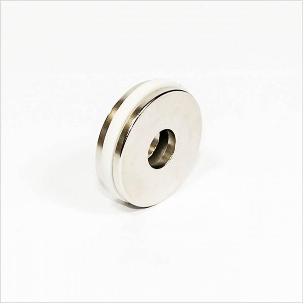D45-d15x4mm - N42 NdFeB Ring Magnet - NiCuNi