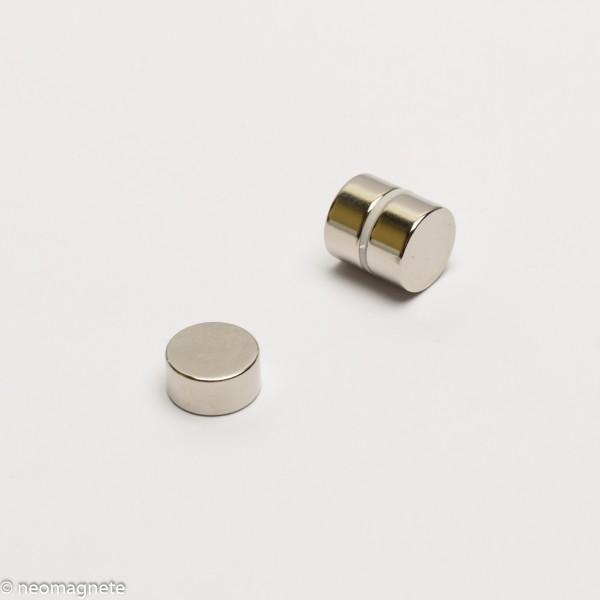 D12x6mm - N45 NdFeB Scheiben Magnet - NiCuNi
