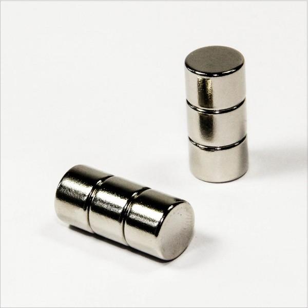 D10x7mm - N42 NdFeB Scheiben Magnet - NiCuNi