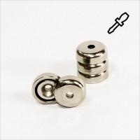 D20mm - N35 Topfmagnet mit Senkung - NiCuNi