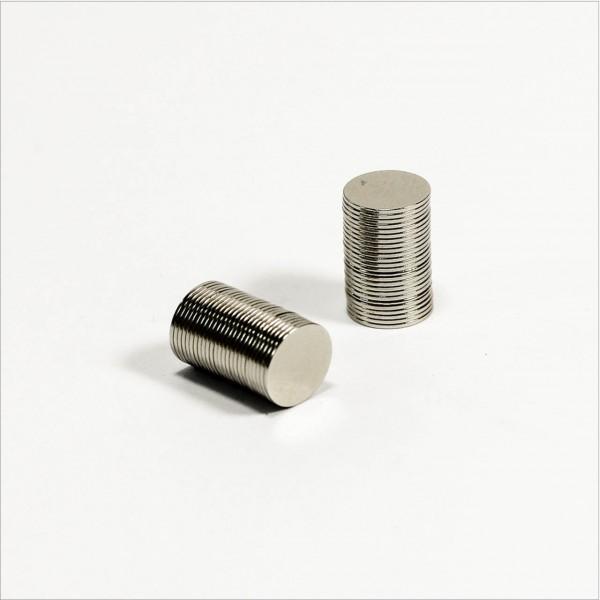 D8x0.5mm - N48 NdFeB Scheiben Magnet - NiCuNi