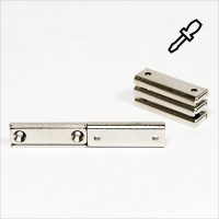 40x13,5x5mm - N35 Flachgreifermagnet Quader - NiCuNi