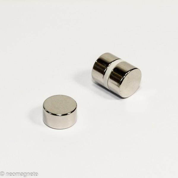 D15x8mm - N42 NdFeB Scheiben Magnet - NiCuNi