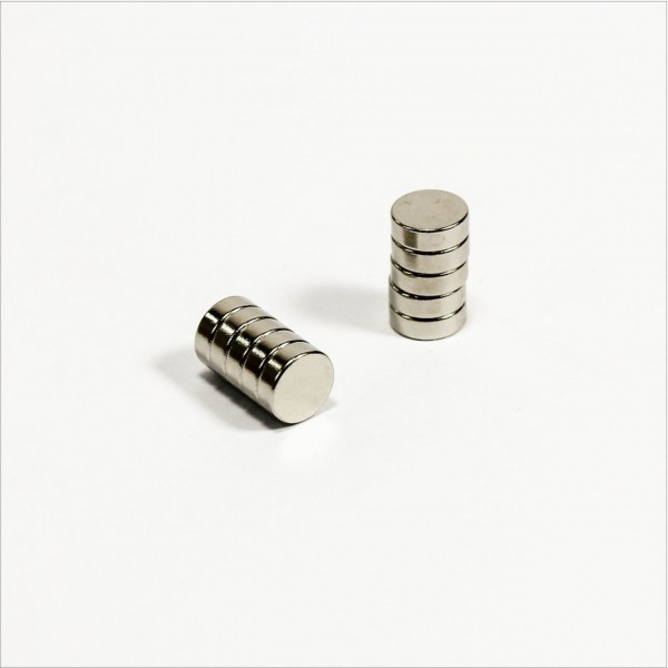 D6x2mm - N48 NdFeB Scheiben Magnet - NiCuNi