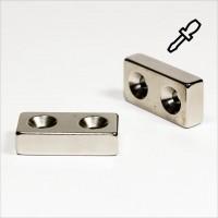 40x20x10mm - N40 NdFeB Quader Magnet - H - NiCuNi