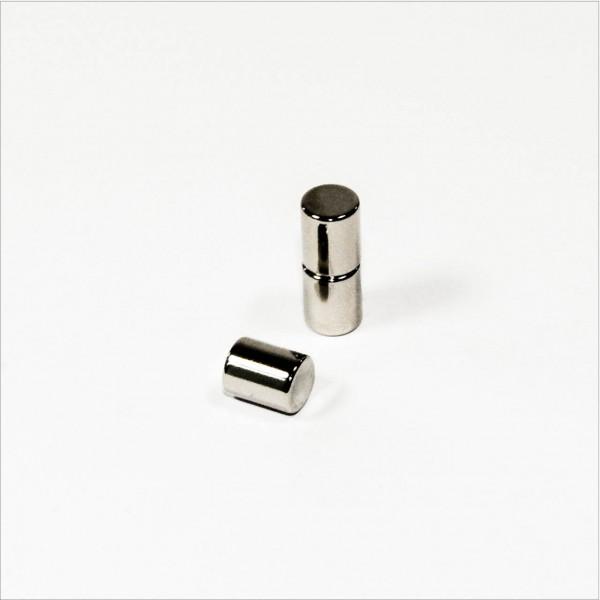 D8x10mm - N45 NdFeB Stab Magnet - NiCuNi