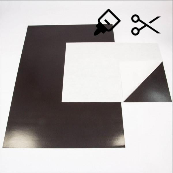 Magnetfolie selbstklebend A4/A3