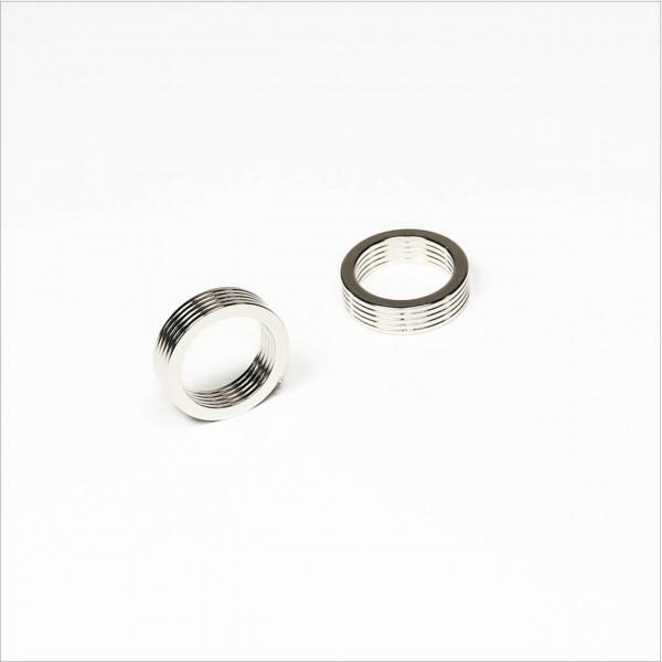 D19,5-d15.05x1mm - N52 NdFeB Magnetring - NiCuNi