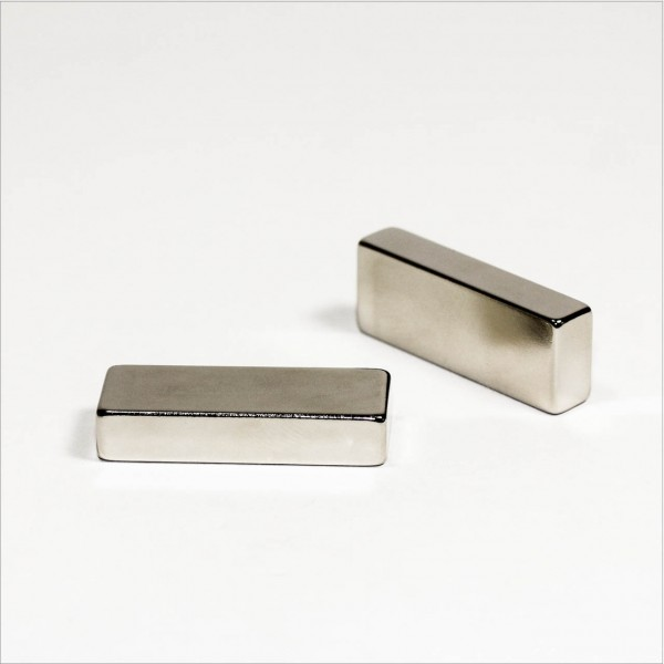 40x15x8mm - N52 NdFeB Quader Magnet - NiCuNi