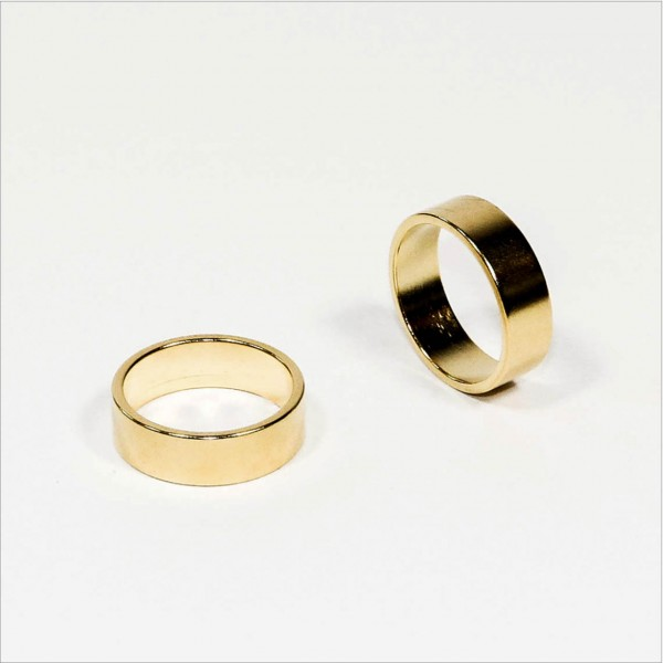 N45 NdFeB PK-Ring Magnet - Gold