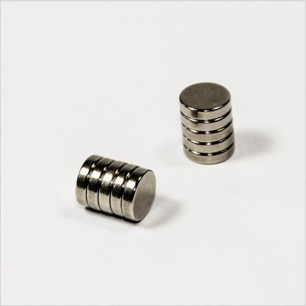 D8x2mm - N45 NdFeB Scheiben Magnet - NiCuNi