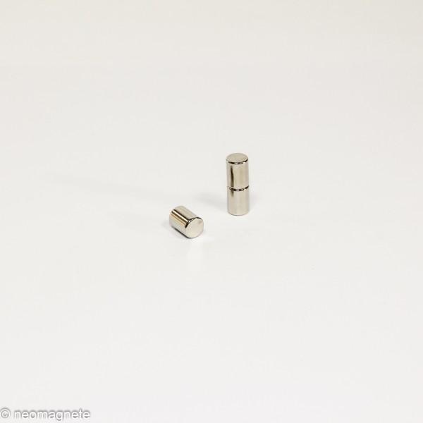 D6x8mm - N42 NdFeB Stab Magnet - NiCuNi